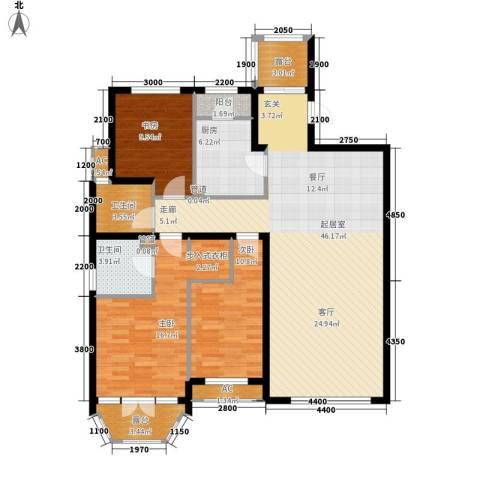 红赫世家3室0厅2卫1厨152.00㎡户型图