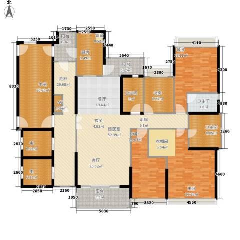 招商金山谷3室0厅3卫1厨227.19㎡户型图