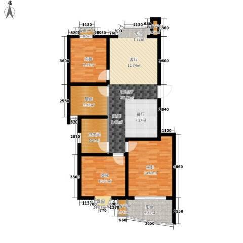 良城美景3室1厅1卫1厨120.00㎡户型图