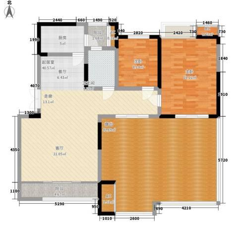 檀香园2室0厅1卫1厨126.94㎡户型图
