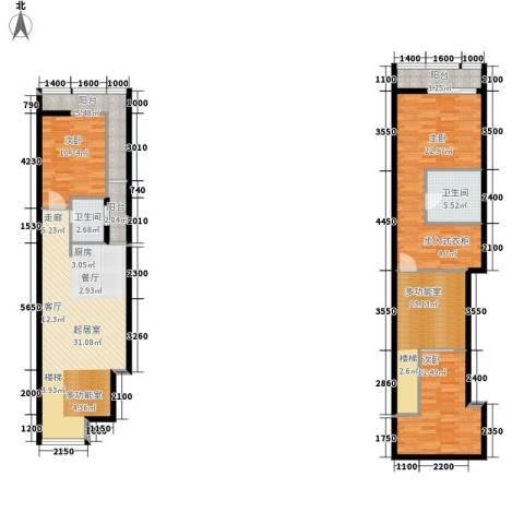 原筑3室0厅2卫0厨142.00㎡户型图