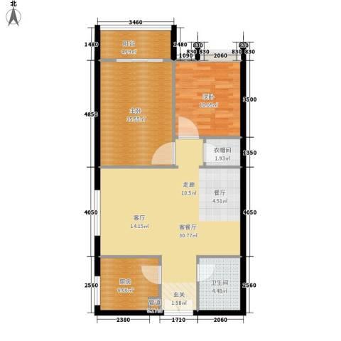 东方星苑2室1厅1卫1厨73.18㎡户型图