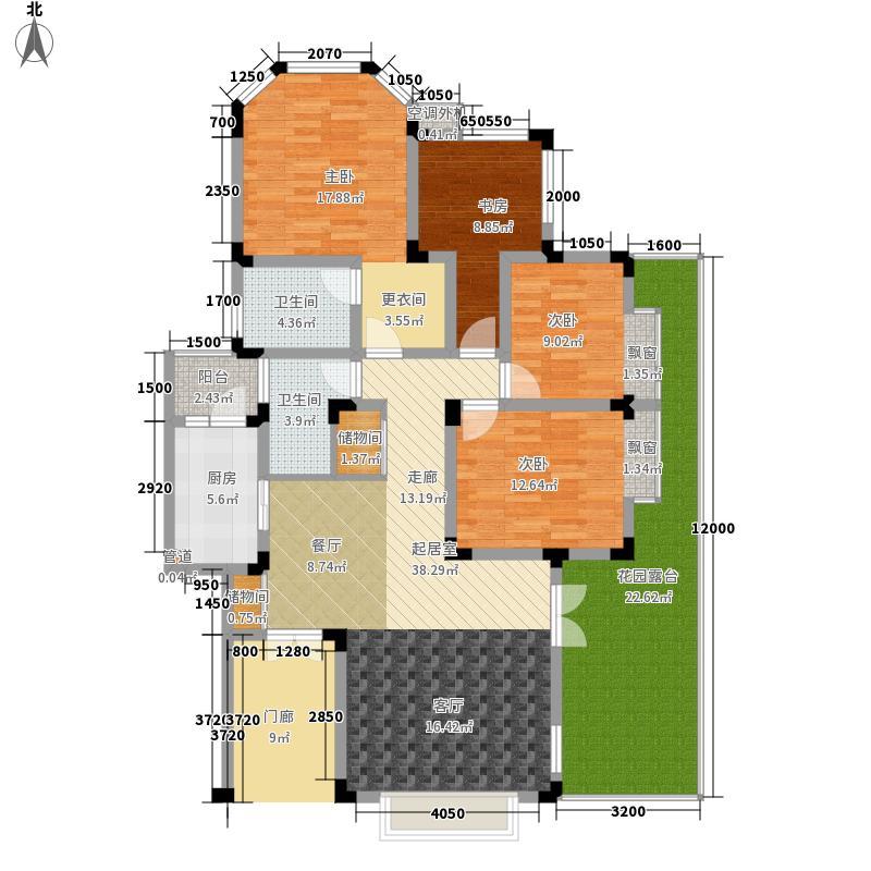 领域132.18㎡11号楼H1型2面积13218m户型