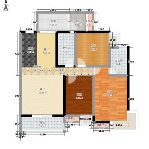 大兴新悦城3室0厅2卫1厨120.00㎡户型图