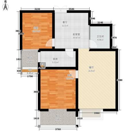 风情假日2室0厅1卫1厨88.00㎡户型图