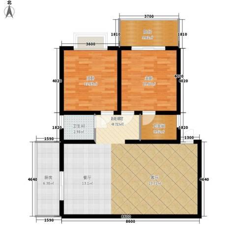 宏林名苑2室0厅2卫1厨108.00㎡户型图