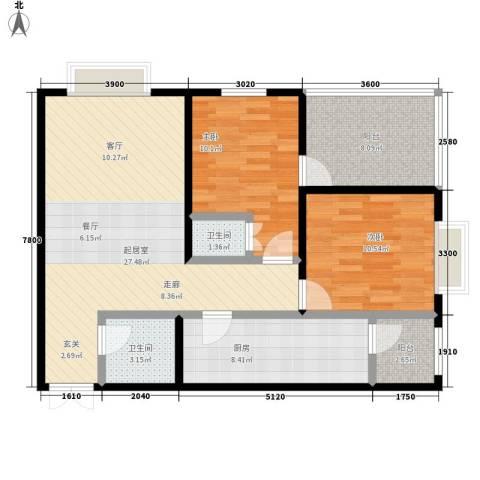 太和公园人家2室0厅2卫1厨91.00㎡户型图