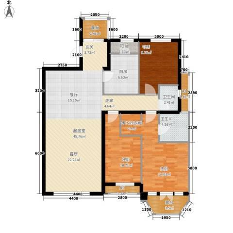 红赫世家3室0厅2卫1厨151.00㎡户型图