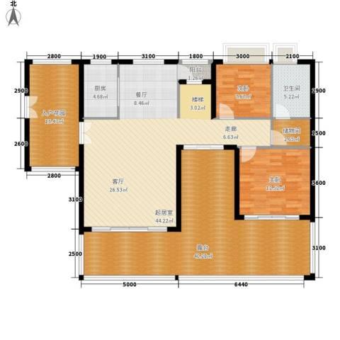 星河湾畅心园2室0厅1卫1厨176.00㎡户型图