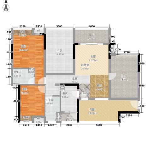 大朗怡景花园2室0厅2卫1厨116.86㎡户型图