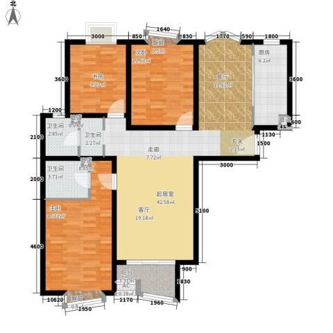 大朗怡景花园3室0厅2卫1厨163.00㎡户型图