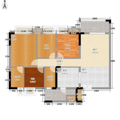 云山诗意4室0厅2卫1厨105.00㎡户型图