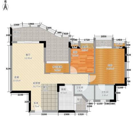 沙田东港城上郡2室0厅2卫1厨101.00㎡户型图
