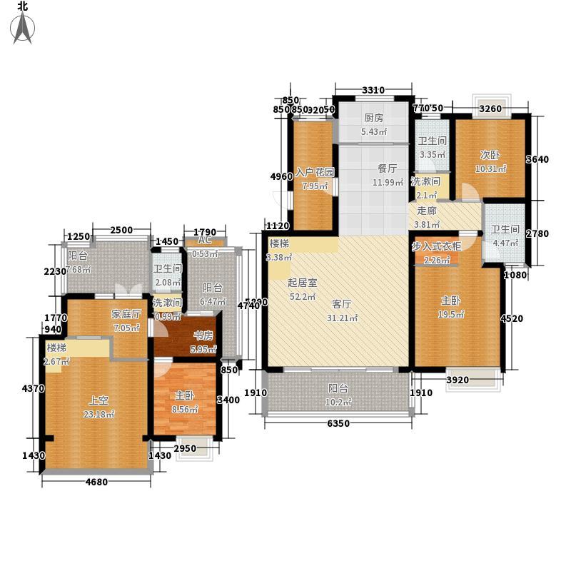枫林华府199.00㎡F5号楼4面积19900m户型