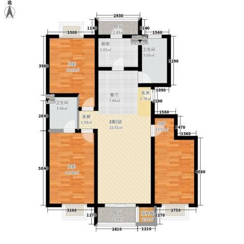 海澳公馆3室0厅2卫1厨138.00㎡户型图
