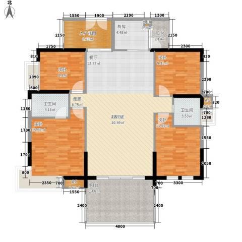 荣爵馆4室0厅2卫1厨130.00㎡户型图