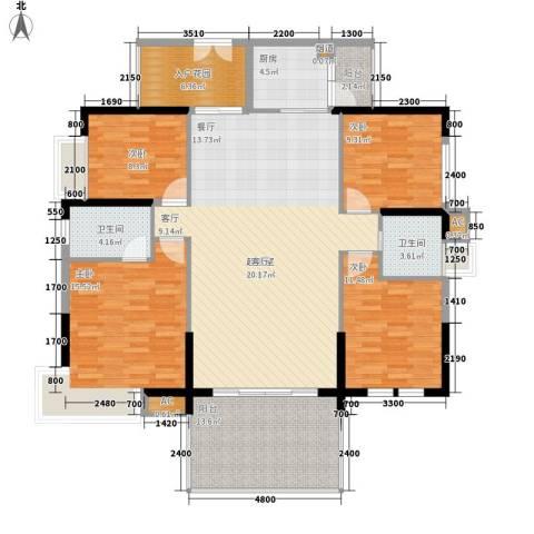 荣爵馆4室0厅2卫1厨129.00㎡户型图