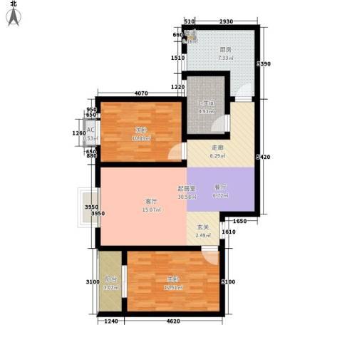 嘉怡豪庭2室0厅1卫1厨89.00㎡户型图
