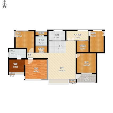 松江运河城1室1厅2卫1厨214.00㎡户型图