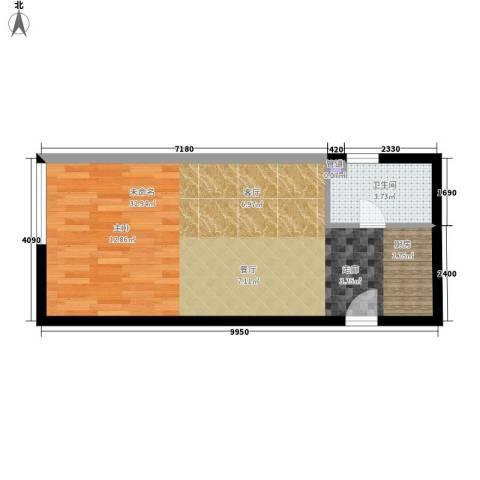 锦源国际公寓1卫0厨53.00㎡户型图