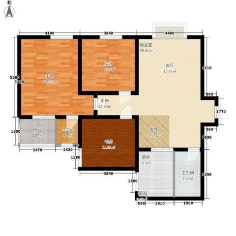 长延居会展明珠3室0厅2卫1厨124.00㎡户型图
