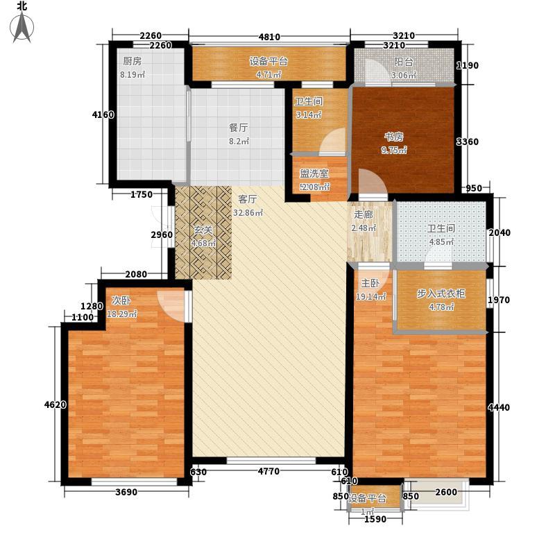 雍景湾140.00㎡户型3室2厅