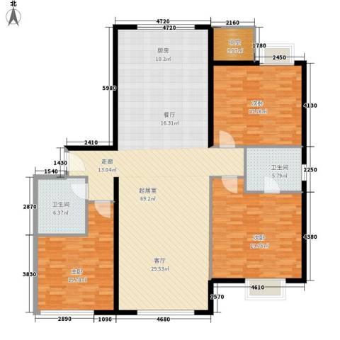 颐和宫3室0厅2卫0厨146.00㎡户型图