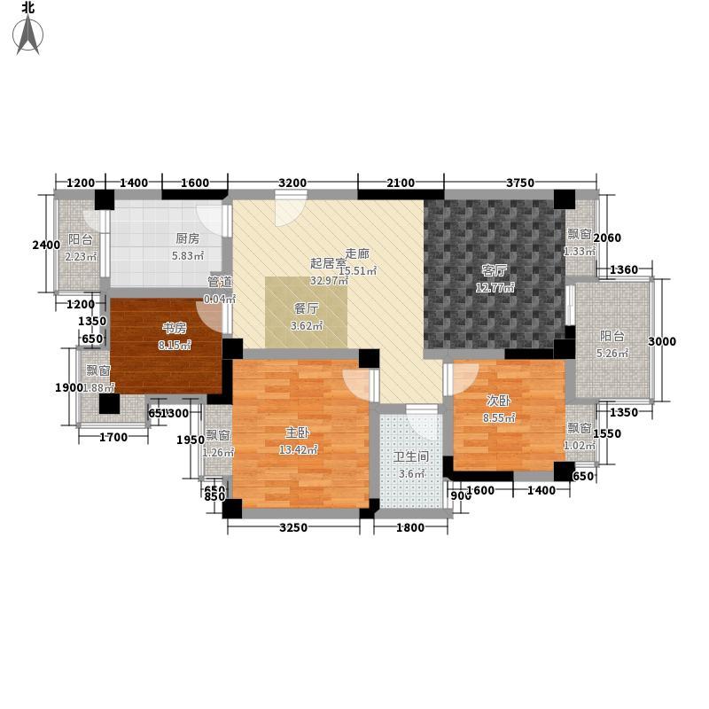 康居天骄星城98.75㎡一期1号楼标准层G3户型