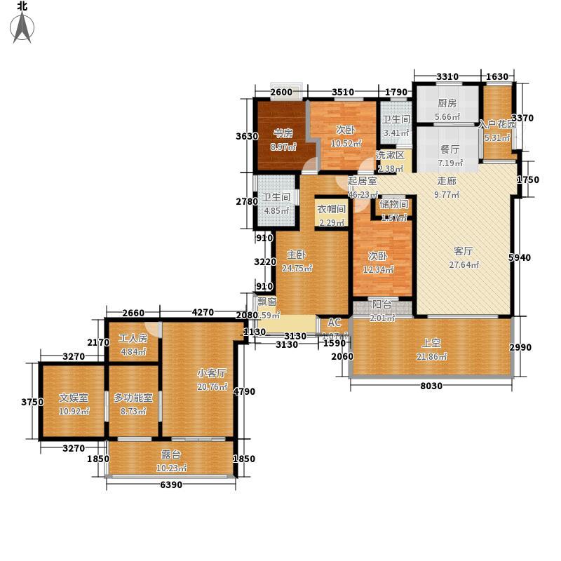 枫林华府230.00㎡A5号楼4面积23000m户型