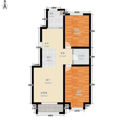 崇立苑2室0厅1卫1厨113.00㎡户型图