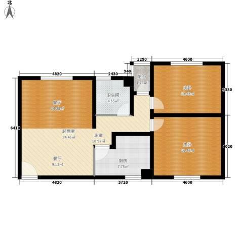 东港龙城2室0厅1卫1厨90.00㎡户型图