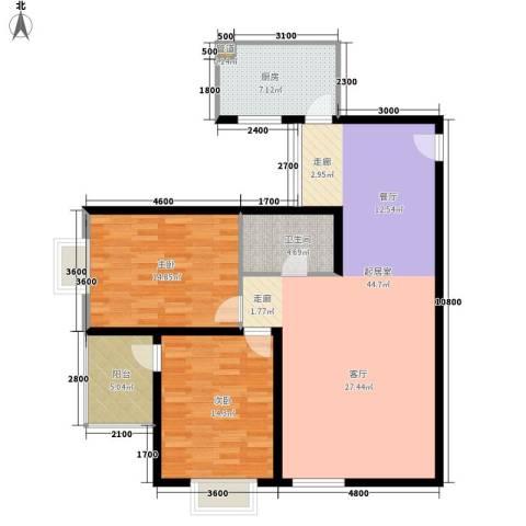 阳光丽城2室0厅1卫1厨126.00㎡户型图
