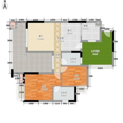 好美嘉园2室0厅2卫1厨104.00㎡户型图