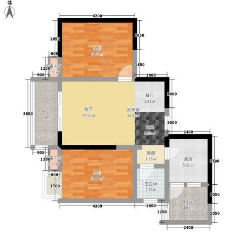 大兴新悦城2室0厅1卫1厨88.00㎡户型图