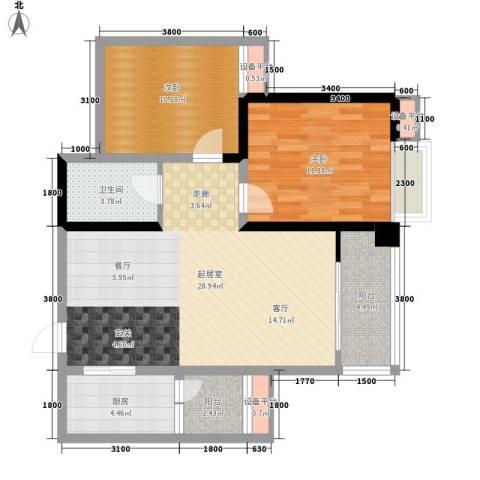 大兴新悦城2室0厅1卫1厨95.00㎡户型图