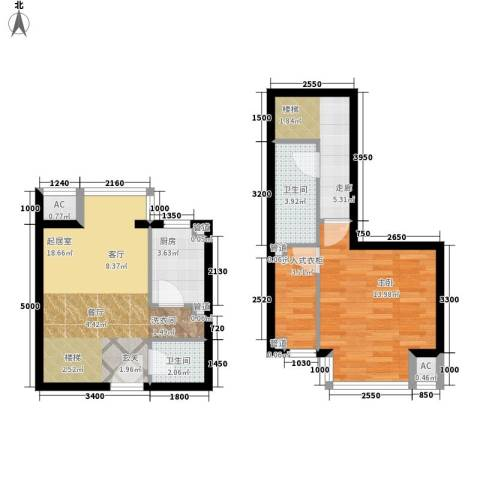 大朗怡景花园1室0厅2卫1厨130.00㎡户型图