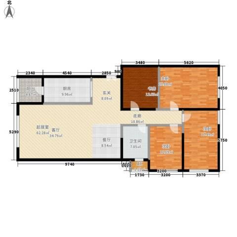 保利金泉4室0厅1卫1厨164.33㎡户型图