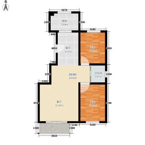东港龙城2室0厅1卫1厨94.00㎡户型图