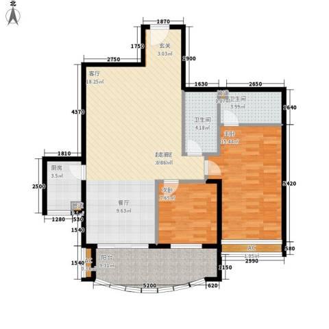 益鹏翠苑2室0厅2卫1厨116.00㎡户型图