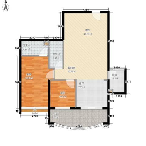 益鹏翠苑2室0厅2卫1厨101.00㎡户型图