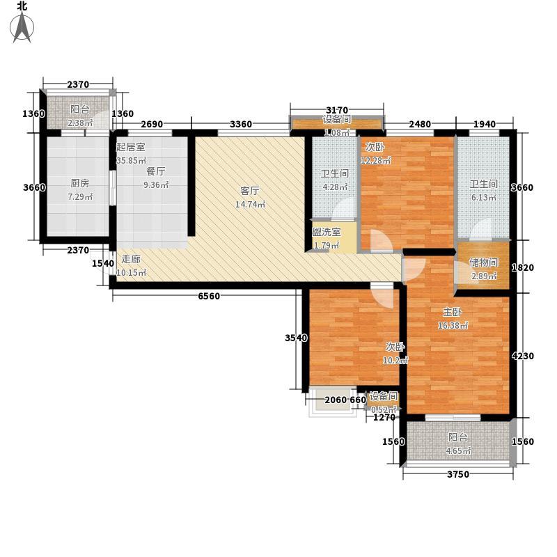 金旅城131.11㎡1、2号楼C-3户型3室2厅