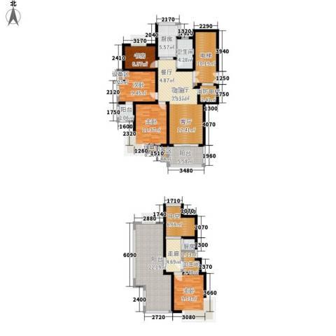 四季阳光花园4室1厅2卫2厨154.00㎡户型图