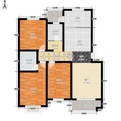 长安新世纪宜居3室0厅2卫1厨125.00㎡户型图