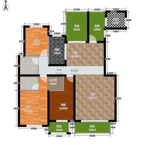 蓝山印象小区3室0厅2卫1厨147.68㎡户型图