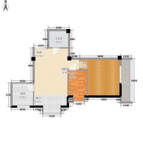 金地园2室0厅1卫1厨97.00㎡户型图