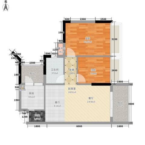 长安新世纪宜居2室0厅1卫1厨125.00㎡户型图
