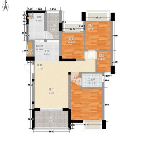 大翼龙苑4室0厅1卫1厨89.00㎡户型图