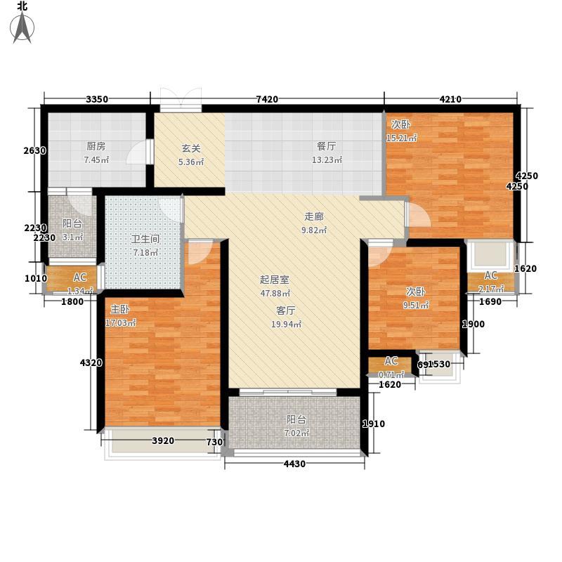 保利花园135.00㎡王者宽邸B4面积13500m户型
