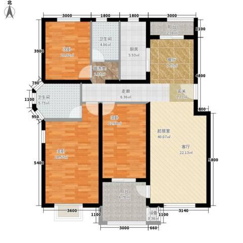 鸿福嘉苑3室0厅2卫1厨152.00㎡户型图