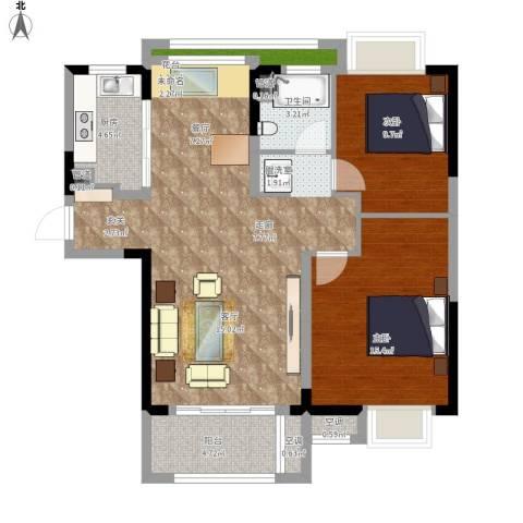 虹桥宝龙城2室1厅1卫1厨110.00㎡户型图